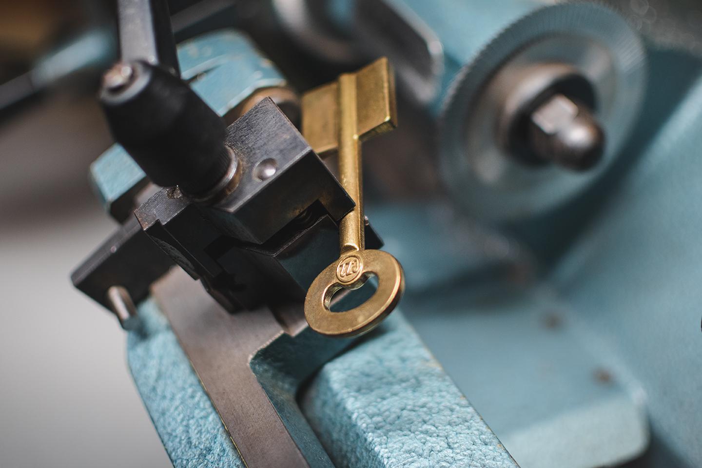 Řezání trezorového klíče
